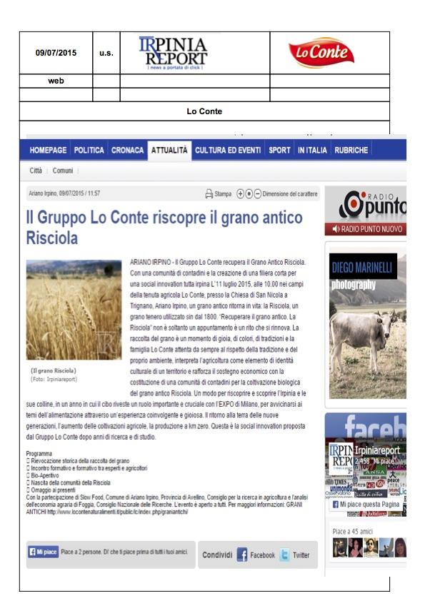 irpinia report - risciola