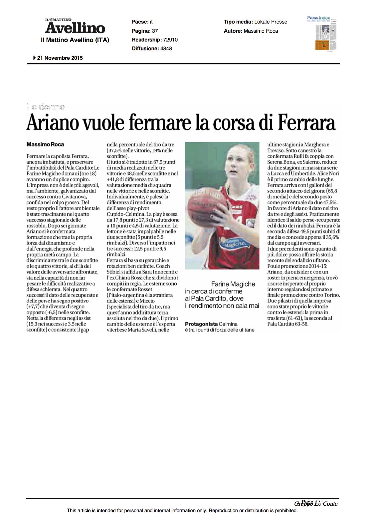 21.11.2015_Il Mattino Ed Avellino