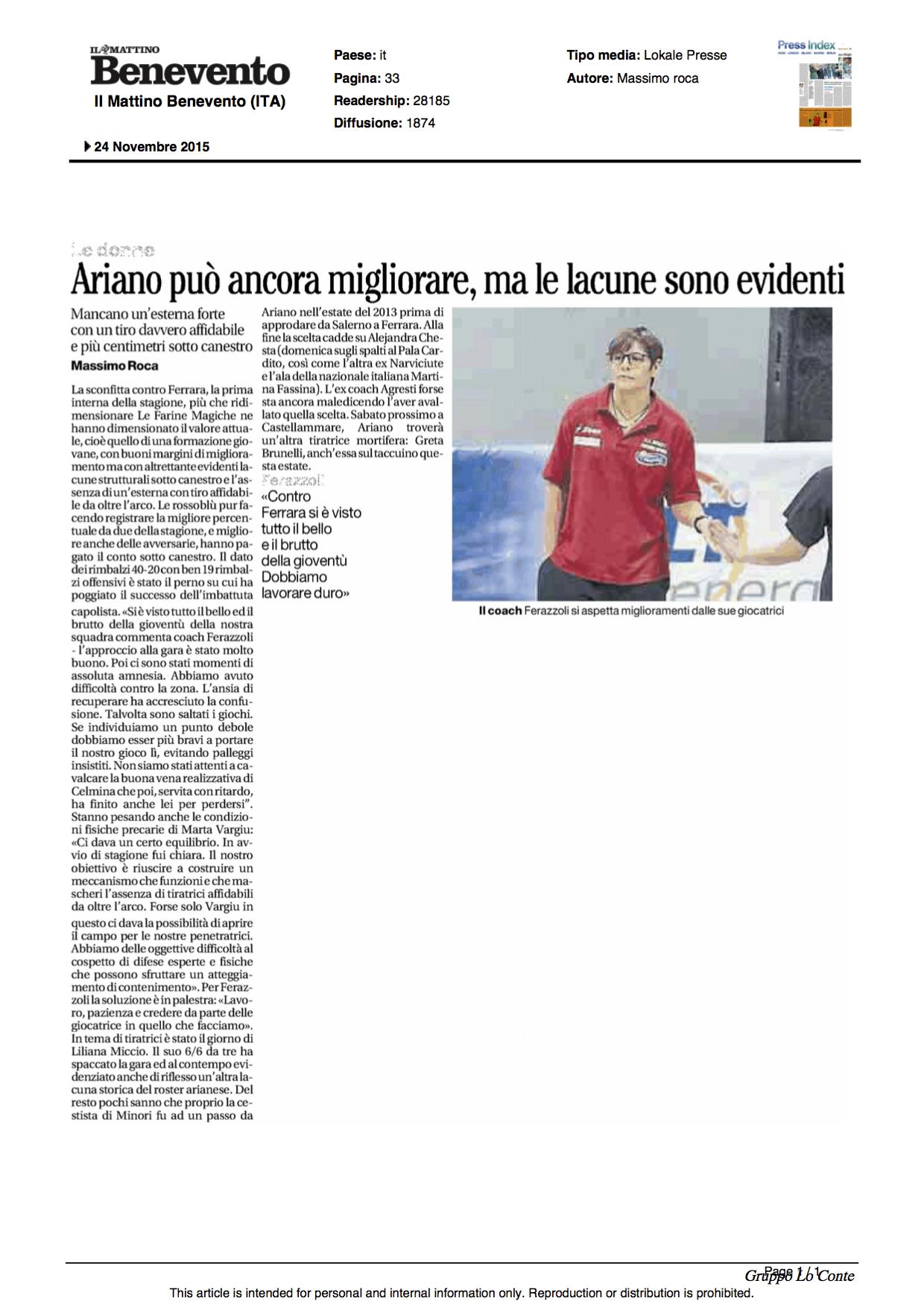 24.11.2015_IL MATTINO_ED BENEVENTO