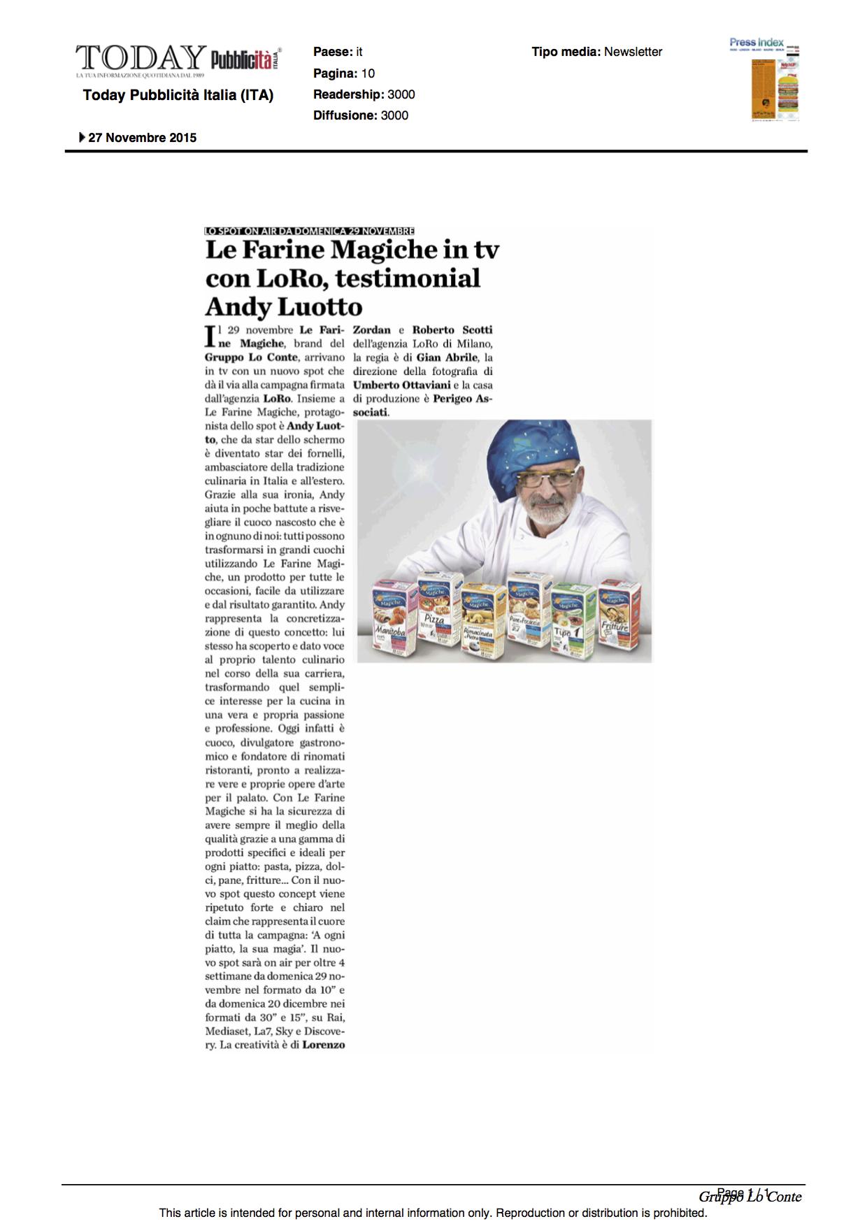 27.11.2015_PUBBLICITA' ITALIA TODAY