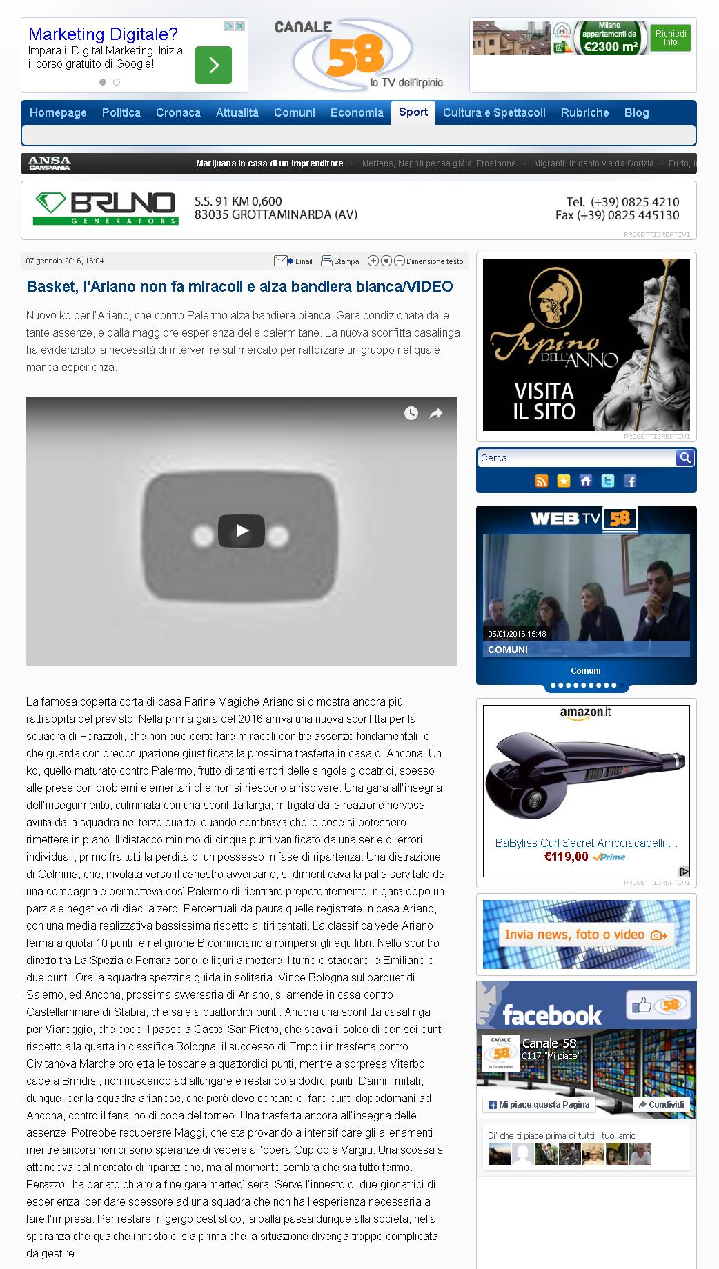 07.01.2016_Canale 58   La TV dell Irpinia