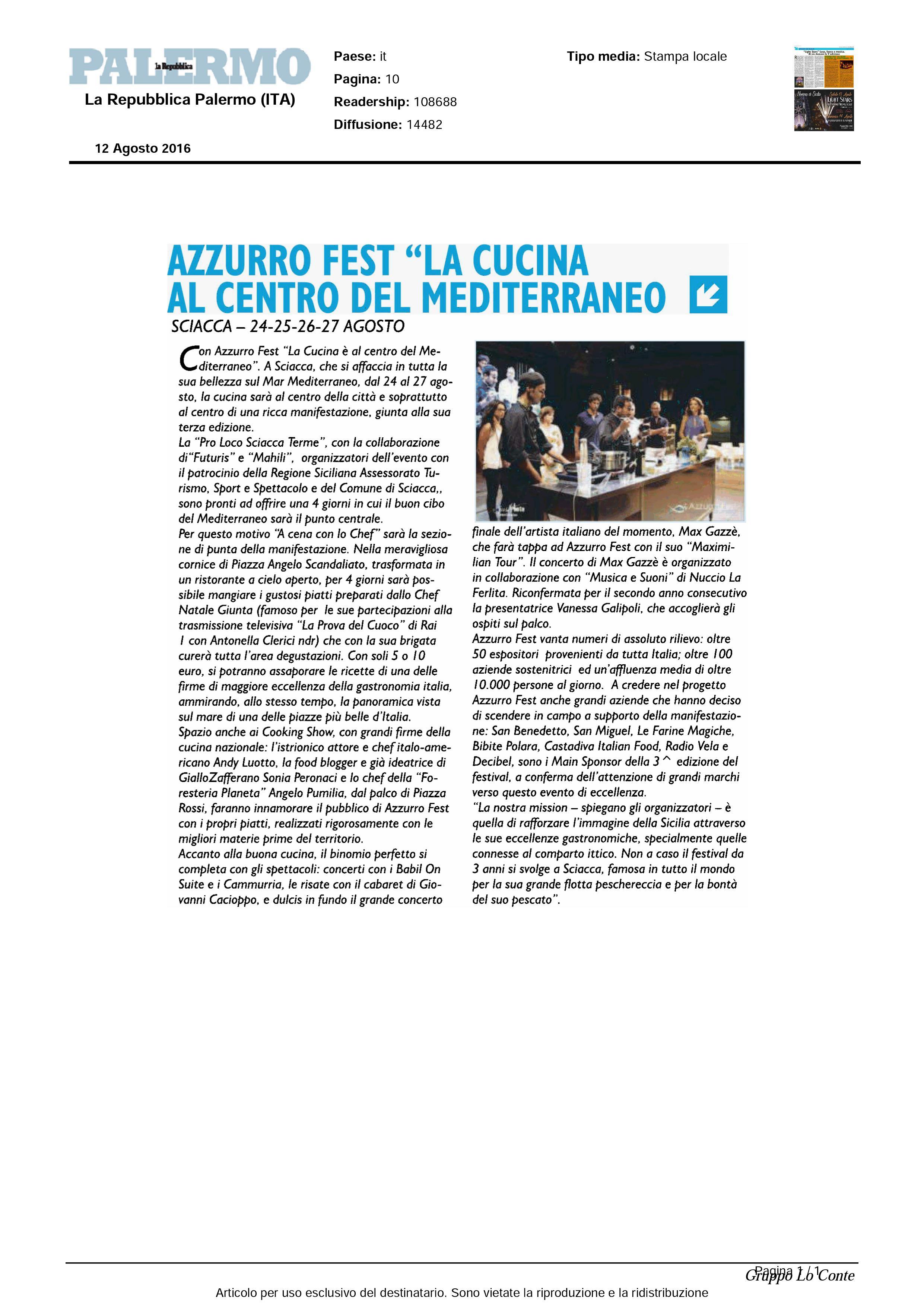 12.08.16 LaRepubblica Palermo