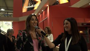 Benedetta Parodi nello stand Lo Conte al TuttoFood 2019